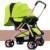 Carrinho de bebê de alta paisagem pode se sentar e deitar two-way carrinho de dobramento