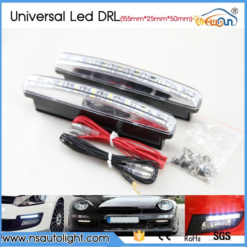 High bright white 3 2W 8pcs leds day light 12V auto led drl day running light