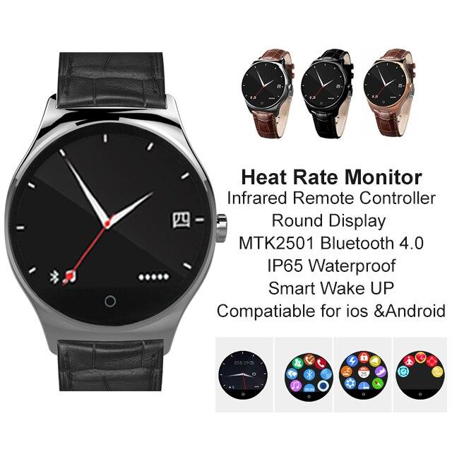 imágenes para Nueva R11 Controlador Remoto Por Infrarrojos Reloj Inteligente Pantalla Redonda MTK2501 anti-perdida Smartwatch Bluetooth Monitor de Ritmo Cardíaco 4.0 IP65