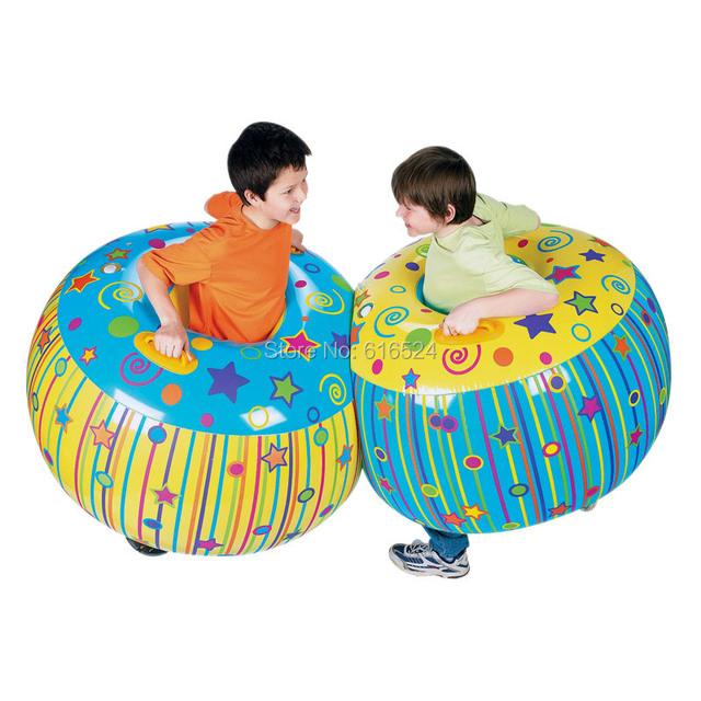 2 pçs/lote 90*55 cm grande Inflável brinquedo bola anel com suporte Praia brinquedos jogo de Esporte para Crianças