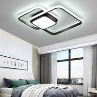 Chambre salon plafonniers lampe moderne lustre de plafond moderne gradation acrylique plafond moderne à LEDs lampe pour chambre à coucher