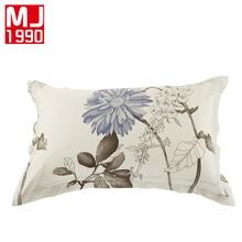 New 100 Cotton Printed Woven Eco Friendly Flower Pattern Pillowcase 2Pcs Comfortable Sleeping Pillow Case Size