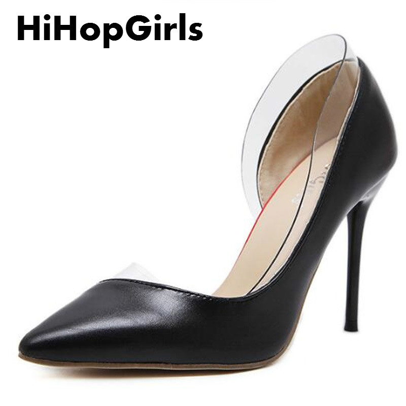 HiHopGirls 2017 New Gladiator Spring Autumn Fashion Women Pumps Pointed PU and PVC combination Thin High Heels Shoes Woman siketu 2017 free shipping spring and autumn women shoes fashion high heels shoes wedding shoes sex was thin pumps g230