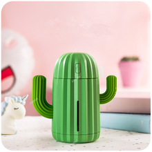 Wireless Air Humidifier 340ml Cactus Rechargeable Portable Aromatherapy Essential Oil Diffuser Aroma Mist Maker Atomizer