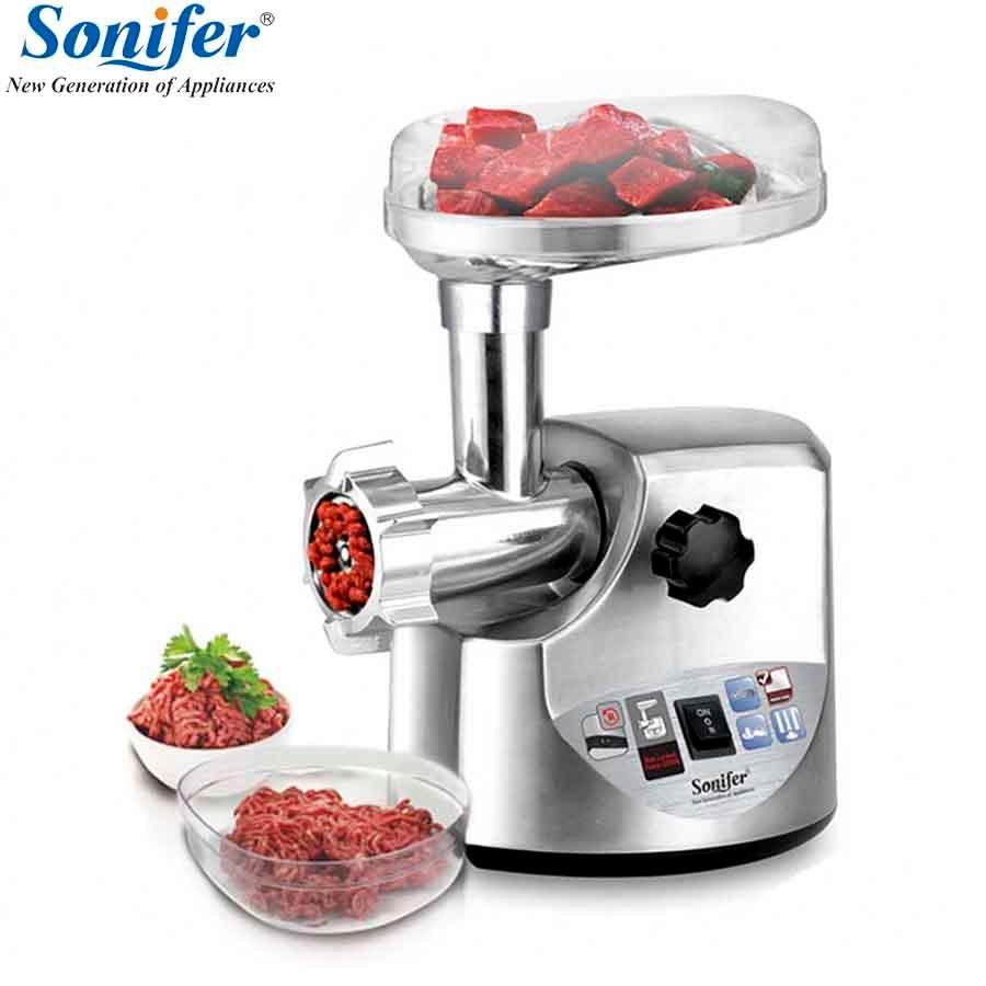 3000 W de alta potencia de acero inoxidable casa picadora de carne eléctrica de salchicha embutidora picadora de servicio pesado hogar picadora Sonifer