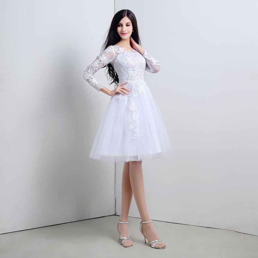 4bdaa2c01c SHAMAI en Stock apliques 3 4 manga negro blanco de la longitud de la rodilla  vestido de fiesta cóctel barato Pirce baile vestidos vestido Formal en  Vestidos ...