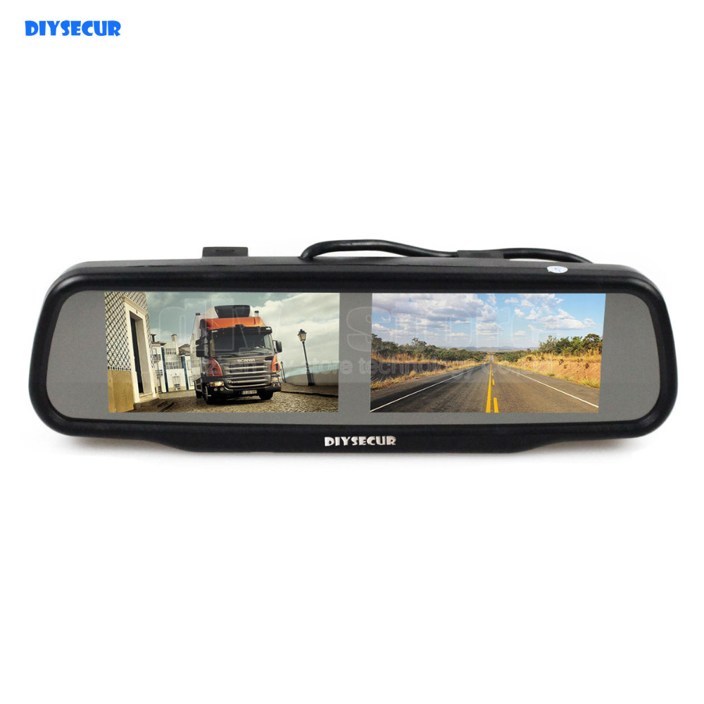 все цены на DIYSECUR Dual 4.3 inch TFT LCD Rear View Monitor Car Mirror Monitor for Dvd Video Player Reversing Backup Car Camera онлайн