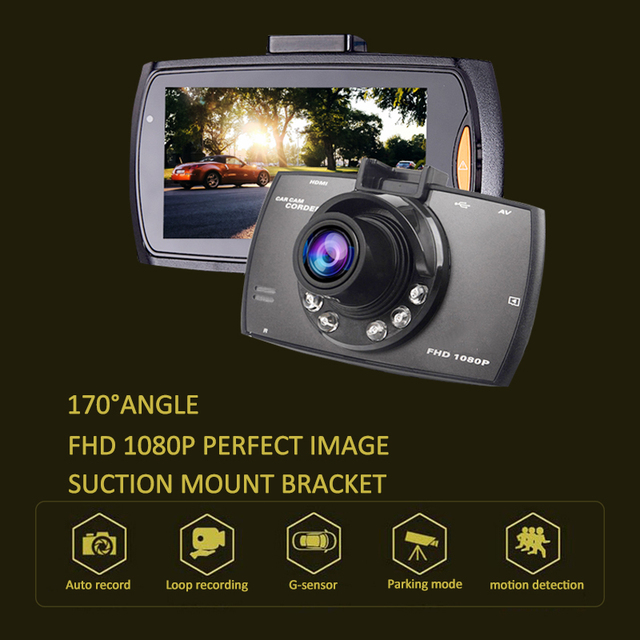 "car dvr Mini 2.7"" Full HD 1080p  Car DVR 170degre Wide Angle TFT LCD Car dvrs Dash Camera Video Cam Recorder Night Vision"