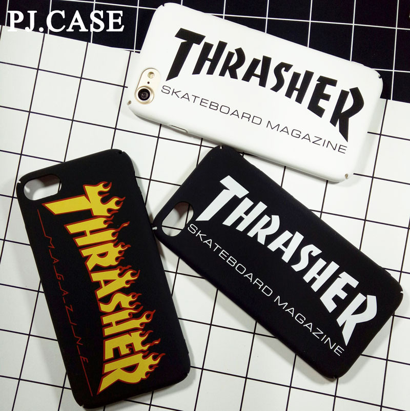 Fashion Design Letter Thrasher Case For iPhone 7 Matte Hard Plastic Cover Capa Coque For iPhone 960x960