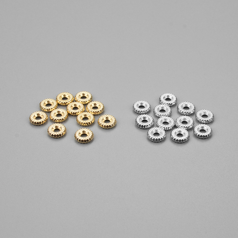 100pcs/lot 8mm CCB Material Gold Rhodium Spacers Loose Beads Jewelry Findings For DIY Bracelet Necklace Jewelry Making 100pcs lot mmbt3906wt1g trans gp ss pnp 40v sot323 mmbt3906wt1g 3906 mmbt3906 mmbt3906w 3906w t3906 making 1e