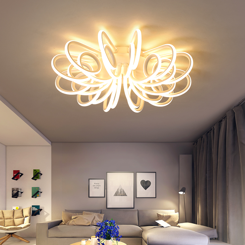 Image 2 - NEW Modern LED Chandeliers For Living Room Bedroom Diningroom Fixture Chandelier Ceiling lamp Dimming home lighting luminarias-in Chandeliers from Lights & Lighting