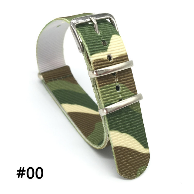 18 20 22 24 mm Brand Army Sports nato fabric Nylon watchband accessories Bands Buckle belt For 007 James bond Watch Strap black | Watchbands