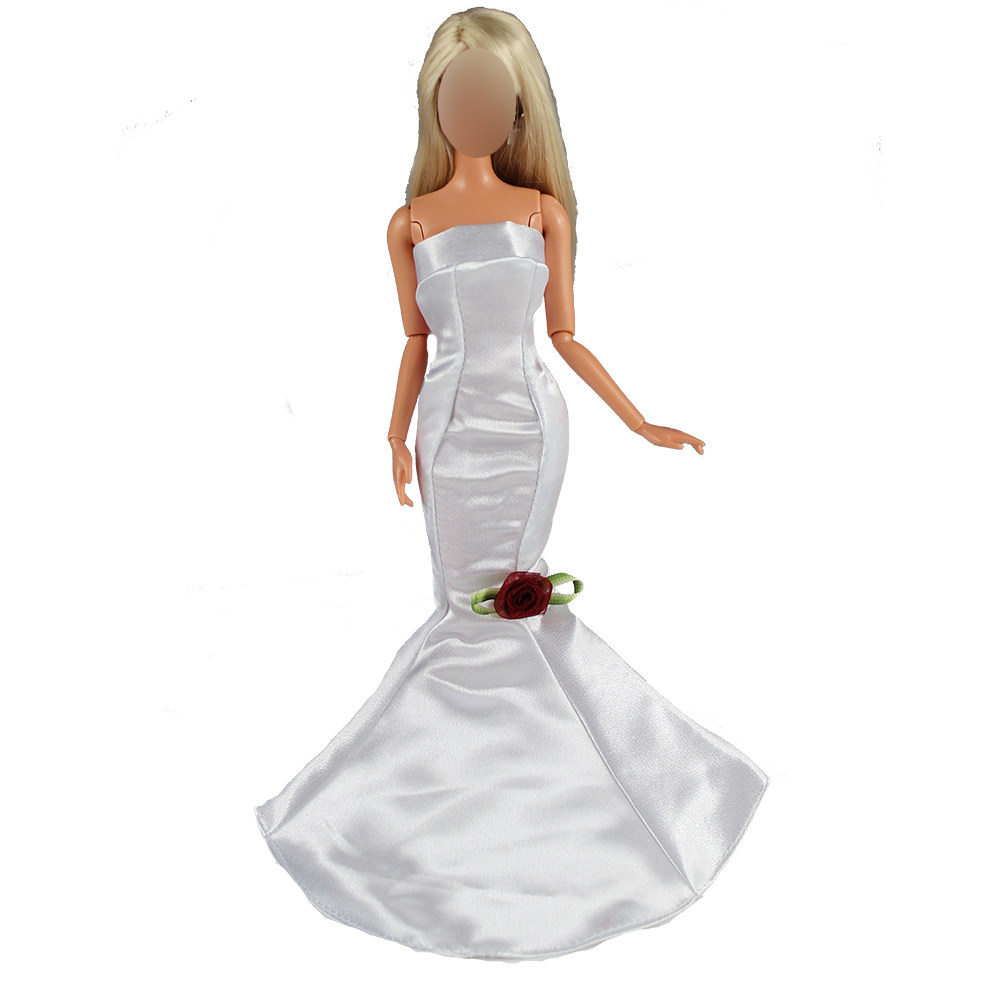 Newest 5 Doll Mermaid Clothes Dresses Random Pick 10 Shoes For Barbie Doll Accessories Elegant Handmade Wedding princess Dress in Dolls Accessories from Toys Hobbies