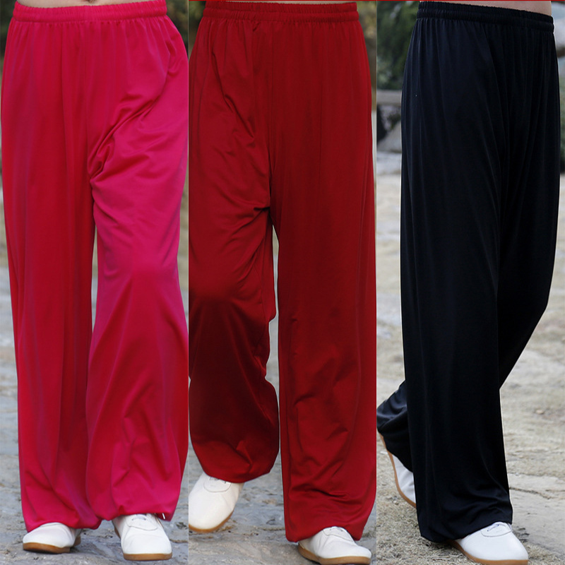 Martial Arts Tai Chi Yoga Pants Acrobatics Pants Kung Fu Cropped Pants Running Pants Adult