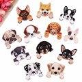 Нашивки XICC с вышивкой «Большая милая собака», термоклейкие переводные наклейки на одежду, аппликации с блестками для детей, поделки