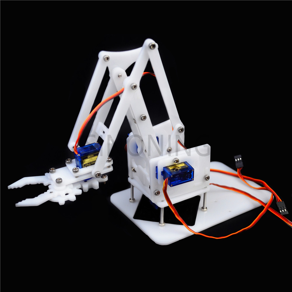 4 DOF Manipulator DIY Assembling Acrylic Mechanical Arm Clamp Claw Arduino Learning Kit