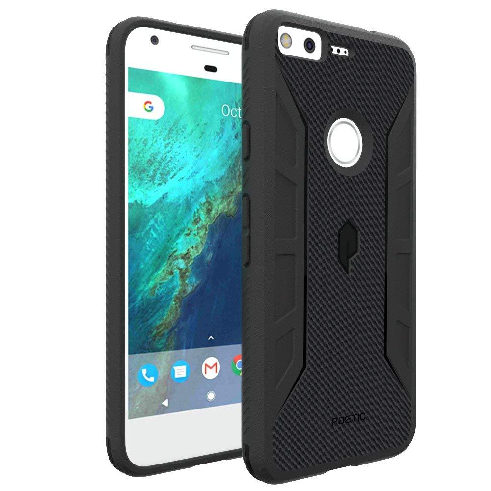 Shield Slim Fit TPU Bumper Case With Carbon Fiber Texture For Google Pixel XL Black