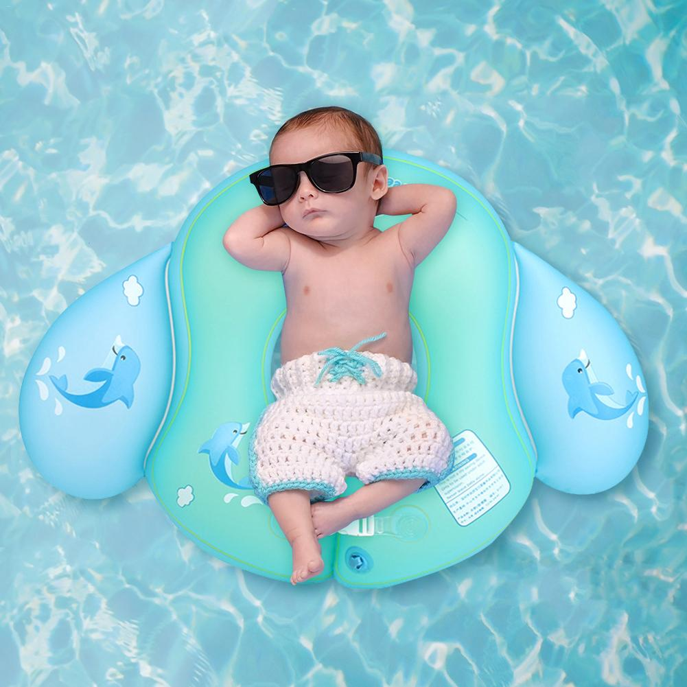 Childrens Double Airbags Non-Tight Swimming Ring Angel U-Shaped Waist Swimming Ring (With A Pump)
