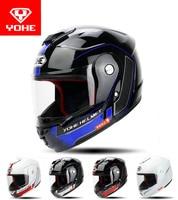 2017 Winter New YOHE Flip Up Motorcycle Helmet Undrape Face Motorbike Helmets ABS YH 973 Knight