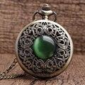 Бронзовый полый имитация камня нефрита ожерелье подвески украшены Дэн Yinghuai таблице представлены P267 Chian Мужчины Женщины Карманные Часы