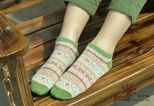 Warm comfortable cotton bamboo fiber girl women's socks ankle low female invisible  color girl boy hosiery  2pair=4pcs WS39