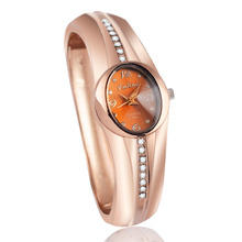 2016 New hot sell Fashion women quartz watches popular designer rhinestone watch rose gold ladies Bangle Watch relogio feminino