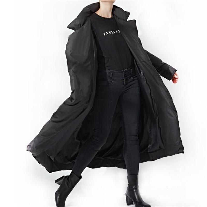 Bouton 68561 longues Turn Épais Black Streetwear Femmes En Le Vers Bas Collar Neploe down Survêtement Manteaux X Solides Couvert Vrac D'hiver pink Ceintures faXwRPqZ