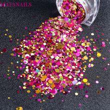 1 Set Mixed Color Round Nail Glitter Sequins Mini 1/2/3mm Dazzling Art Tips Polish Flakes 3D Charm Decorations PLB-51#