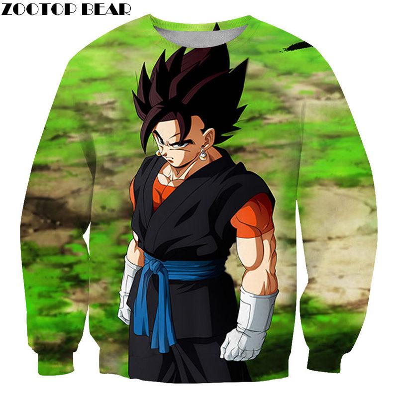 Popular Anime Men Sweatshirts Grassland NEW DragonBall Thick Casual Styler Streetwear 3D print Sweatshirts Pullovers ZOOTOP BEAR