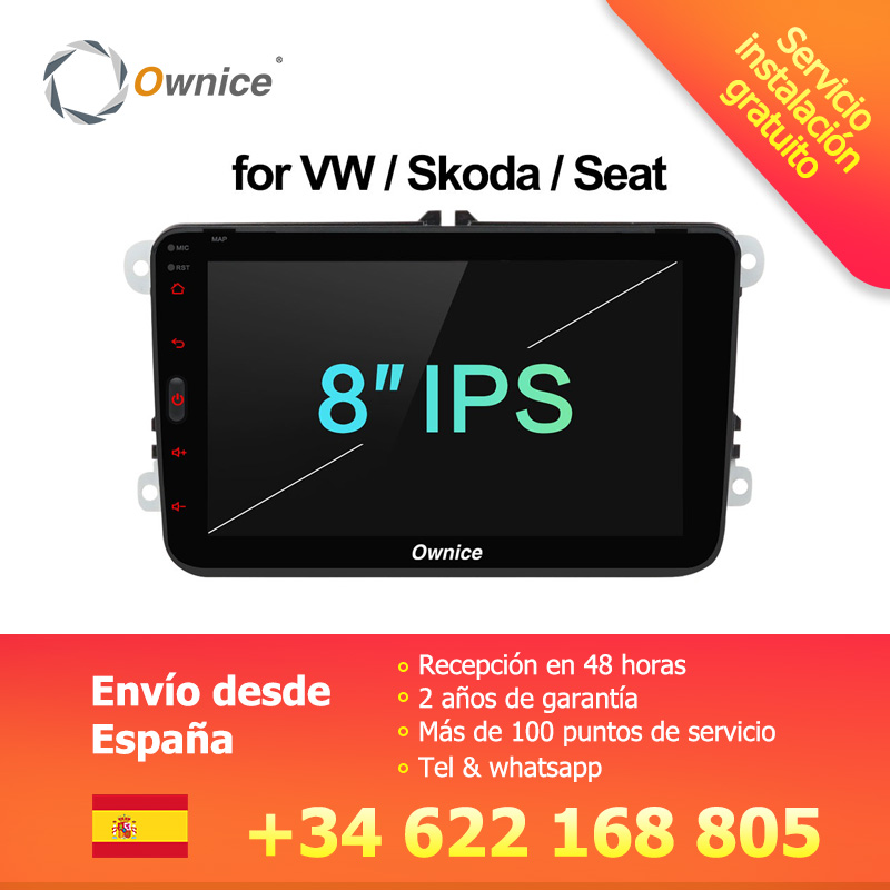 Ownice K1 Android lecteur dvd de voiture pour VW polo golf passat tiguan skoda yeti superbe rapide Octavia Volkswagen toledo Leon gps 2 din