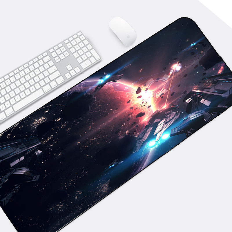 Congsipad So Beautiful Universe Space Star Wars Space War HD Images Printing Mousepad Note Book Pc Laptop Game Gaminmg Mice Mat image