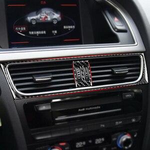 Image 2 - Для Audi A4 B8 A5 Q5 2010 2011 2012 2013 2014 2015 2016 углеродное волокно центральный контроль кондиционер Выход рамка Крышка отделка