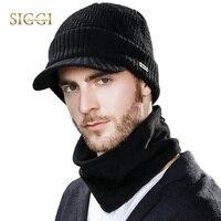 SIGGIถักU Nisex B Eaniesหมวกสำหรับผู้ชายฤดูหนาวไหมพรมสโนว์บอร์ดขนแกะกะโหลกหมวกยอดแหลมผ้าพันคอใบหน้า...