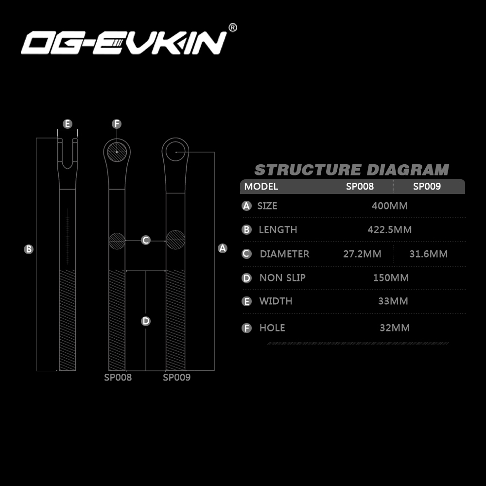 OG-EVKIN SP-008/SP-009 EPS Carbon Seatpost MTB Or Road Bicycle Seatpost 27.2/31.6mm Seat Tube 400MM Canote Carbono Bicycle Parts