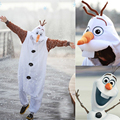 New Anime Cosplay Fantasia Olaf Mascot Costume Pajamas Disfarce Unisex Onesie Party Costumes Halloween Costumes for women