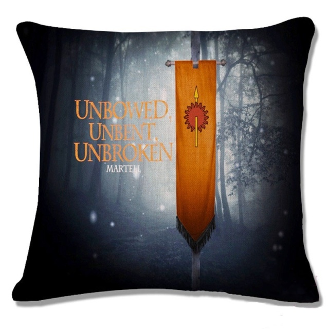 Cotton Game of Thrones House Flag Decorative Pillow Case