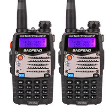 Upgrade 2pcs baofeng uv-5r uv-5ra Handheld Dual Band mobile radio uhf vhf with PPT Headsets UV5RA FM cb Radio walkie talkie car(China)