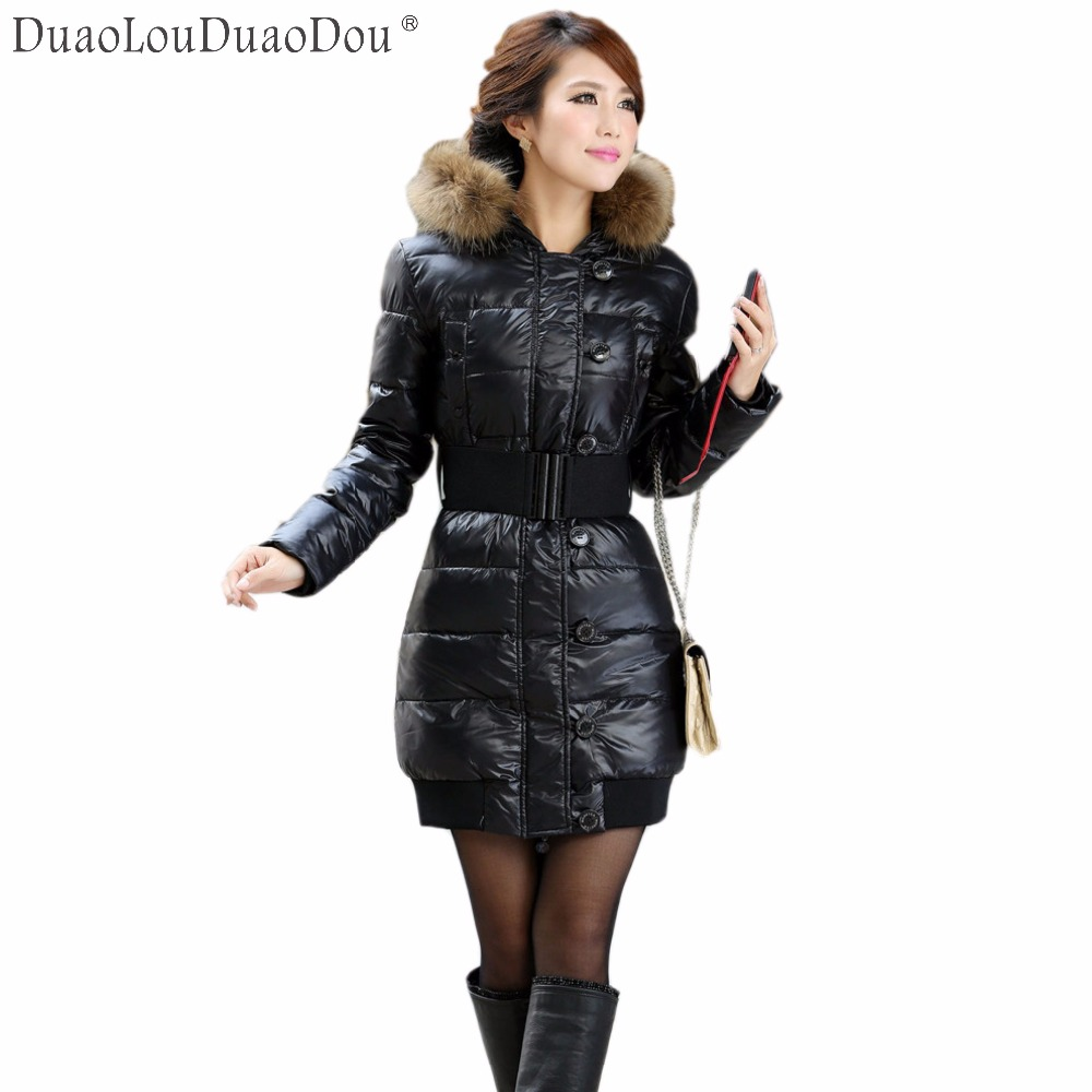 Long Winter Jacket Women Manteau Femme Thick Winter Coat Women Plus Size With Fur Collar Womens Winter Jackets And Coats цены онлайн