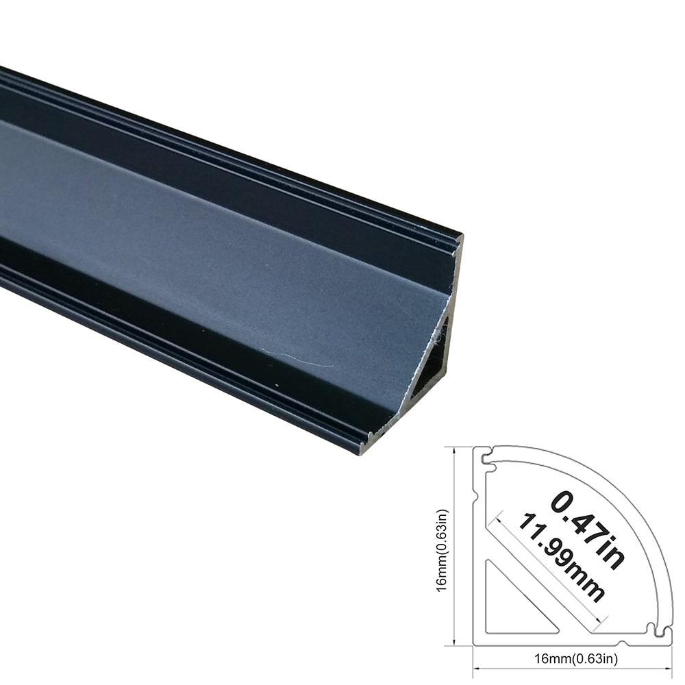 5 սեթ / լոտ 5x1M (3.3ft) Սև LED ալյումինե - LED լուսավորություն - Լուսանկար 2