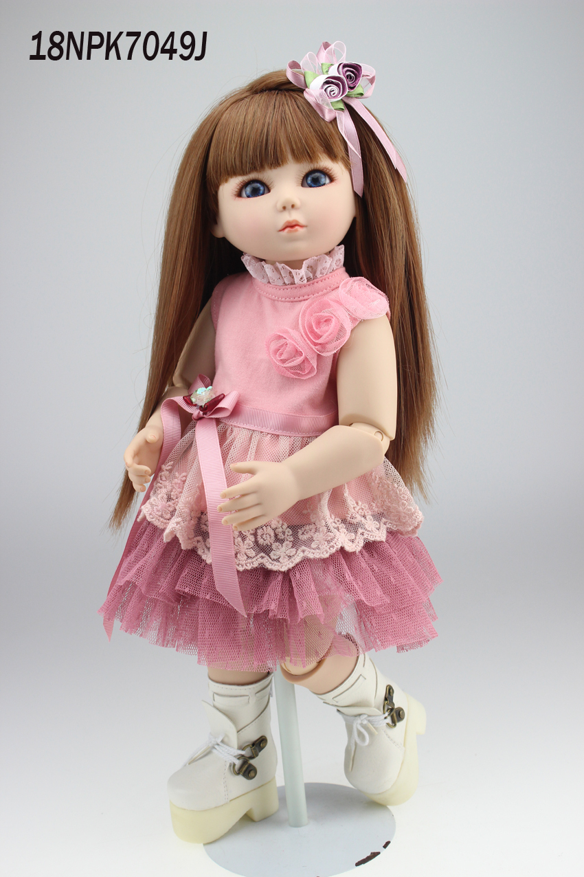 hot-selling beautiful SD/BJD doll 18inch top quality handmade doll  for children hot newest 18 inch handmade vinyl doll bjd doll with dress beautiful princess doll toy for children christmas gift