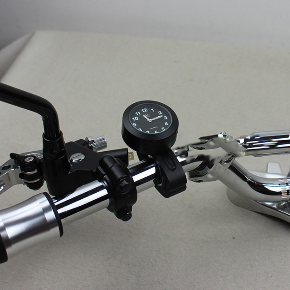 Universal 7/8-1 Waterproof Motorcycle Handlebar Mount Clock Glow Watch