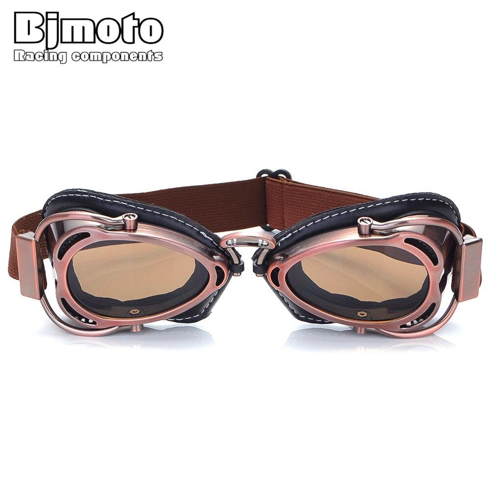 Funny Glasses Motorcycle Cafe Racer Glasses Pilot Aviator Helmet Goggles Retro Vintage Riding EyeWear Sun Windproof Goggles