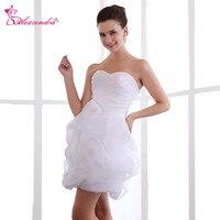 Alexzendra White Sweetheart Organza A Line Mini Wedding Dress Bridal Dresses Plus Size Vestido De Noiva
