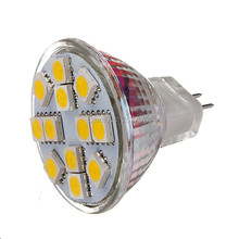 MR11 12LED SMD5050/5730 6.5W DC12V 600LM Warm White / Cool White Decorative DC 12V 5PCS JTFL018-1