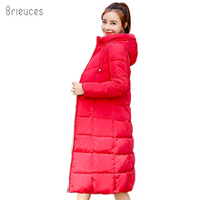 Brieuces 2018 Plus Size 6XL Winter Jacket Women Hooded Down Wadded Jacket Female Long Parkas Cotton-Padded Winter Coat Women стоимость