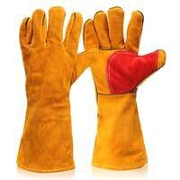 NEW 1 Pair 16 Heavy Duty Lined Reinforced P Alm Welding Gauntlets Welder Labor Gloves Safety