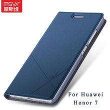 Honor 7 чехол оригинальный Msvii Марка Бумажник кожаный чехол Huawei Honor 7 Чехол Сельма Стенд Флип кожаный чехол для Honor 7 Huawei Случаях
