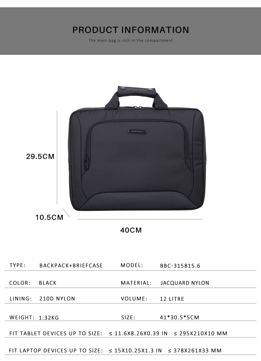Large Black Briefcase Kwacha 8