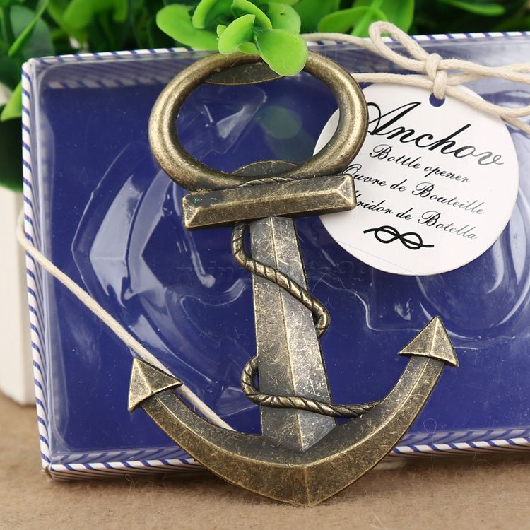 aliexpresscom buy anchor design corkscrew bottle beer opener bridal shower wedding nautical bridal sea party favour wedding favors creative gifts from