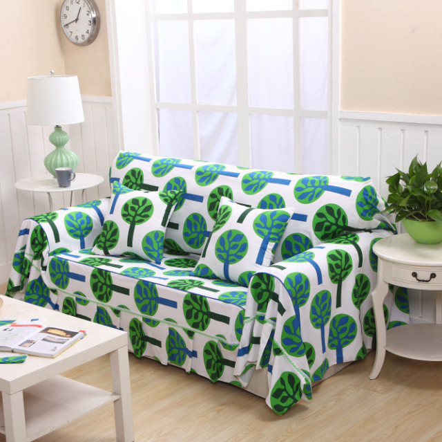 China Made Sofa Towel Sets Covers Full Slipcover Set Cotton Canvas Cloth